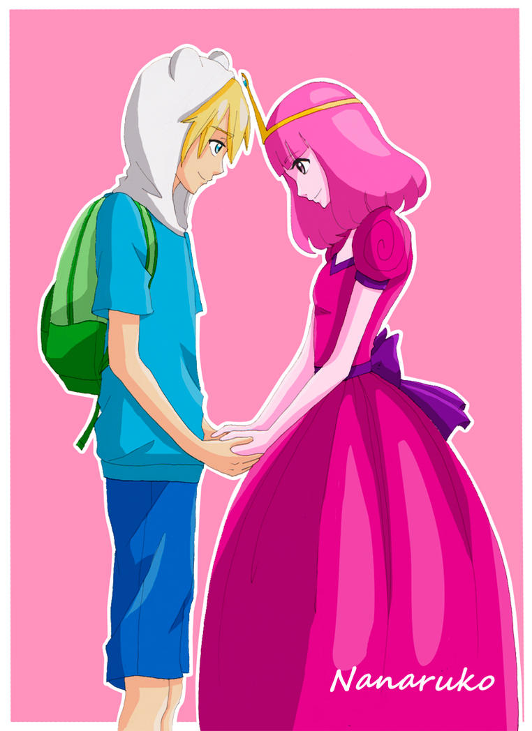 Finn and Princess Bubblegum - Adventure Time by Nanaruko
