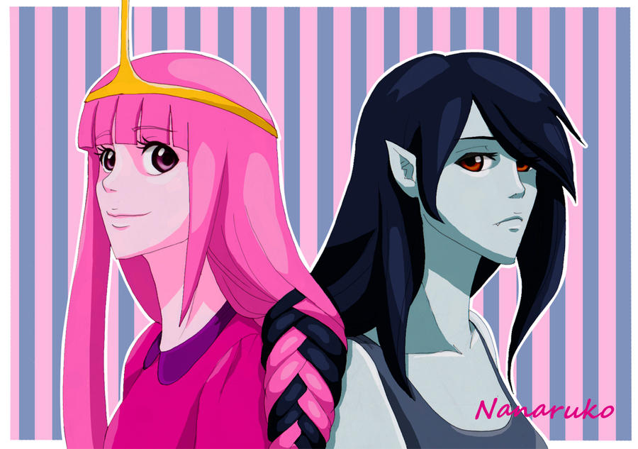 princess bubblegum and marceline adventure time by