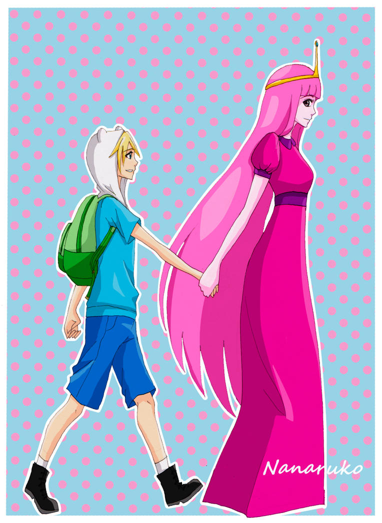 Finn and Princess Bubblegum - Adventure Time by Nanaruko