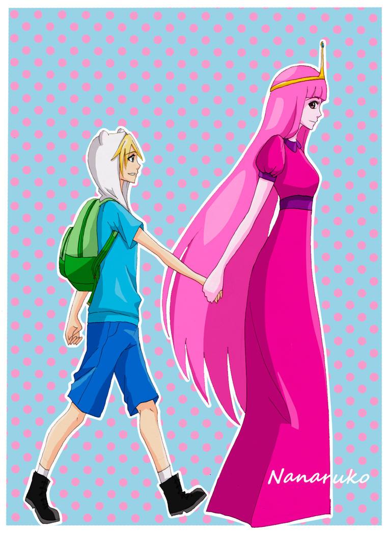 Finn and Princess Bubblegum - Adventure Time by Nanaruko ...