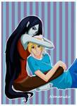 Marceline and Finn- Adventure Time