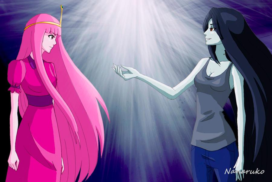 Adventure Time Anime Princess Bubblegum And Marceline