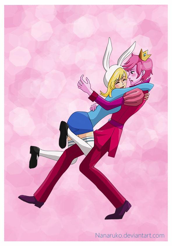 Fionna and Prince Gumball by Nanaruko