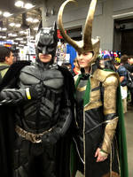 The God of Mischief and The Dark Knight by LaneDevlin