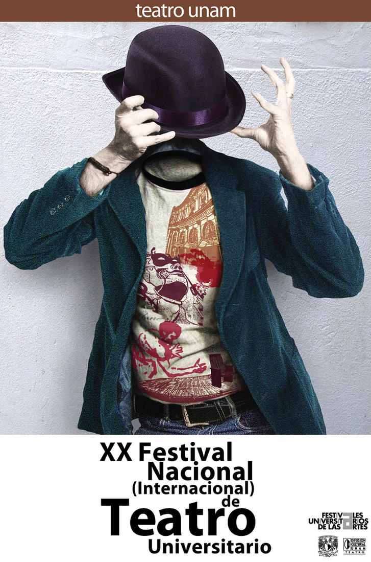 UNAM Theatre Festival Official Poster By Logandf
