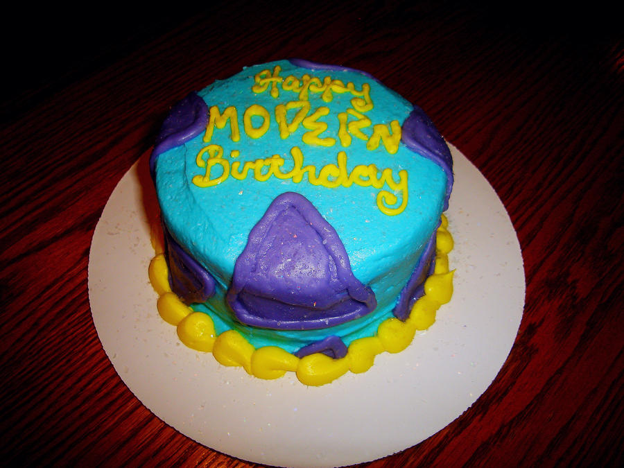 Birthday Cake Modern Art : Rocko s Modern Birthday Cake by AnonymousCharles on DeviantArt