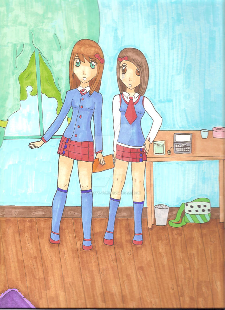 2 girls - Copics by crizty-yumi