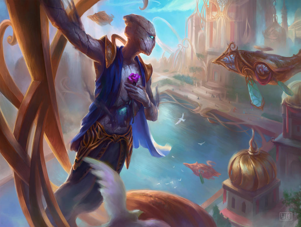 live fast illustration for magic the gathering by artofryanyee on
