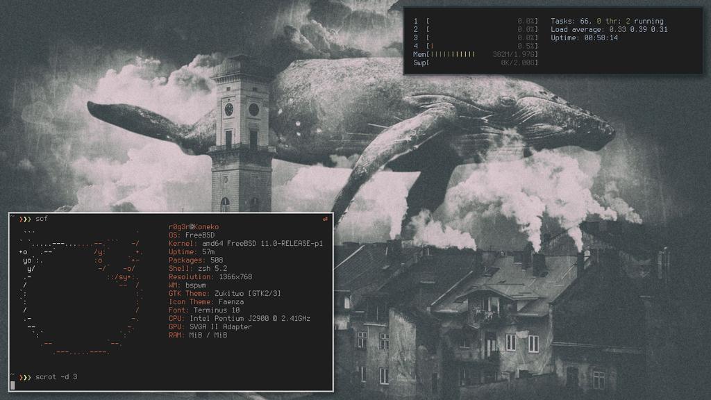 bspwm on FreeBSD by Ta7u-54w