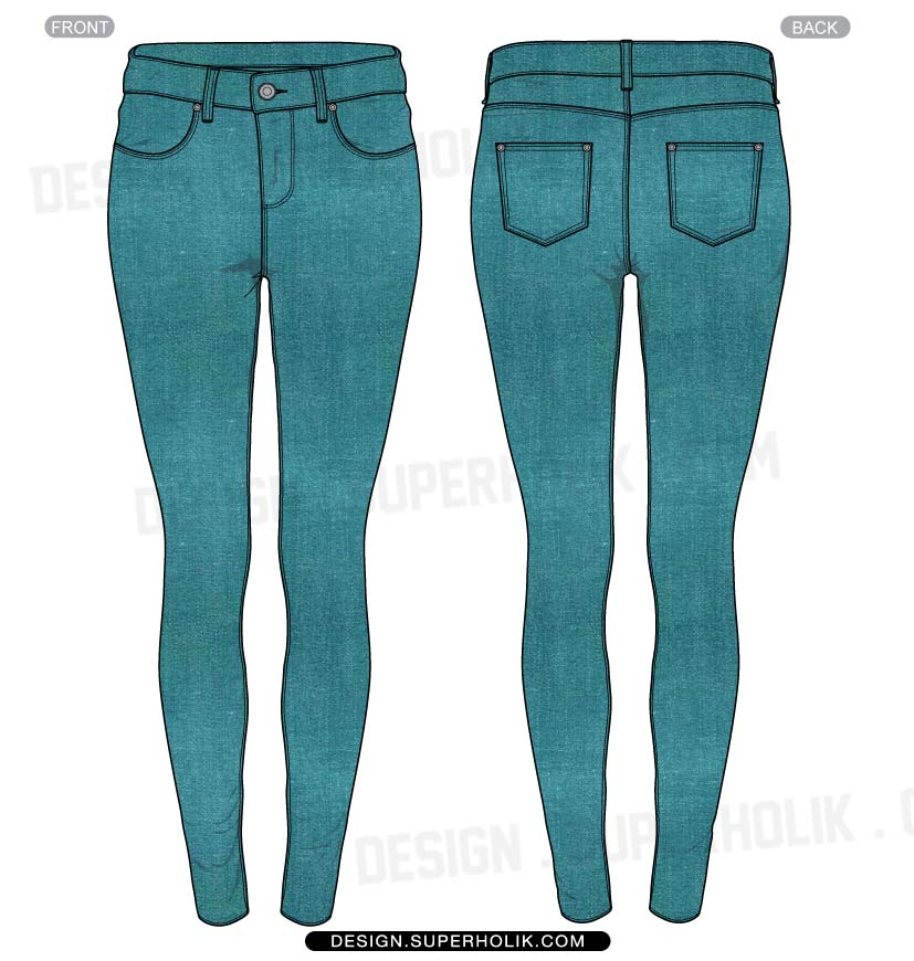 Lastest Sketches Pants Sketches Technical Drawings Technical Sketch Flat Jeans