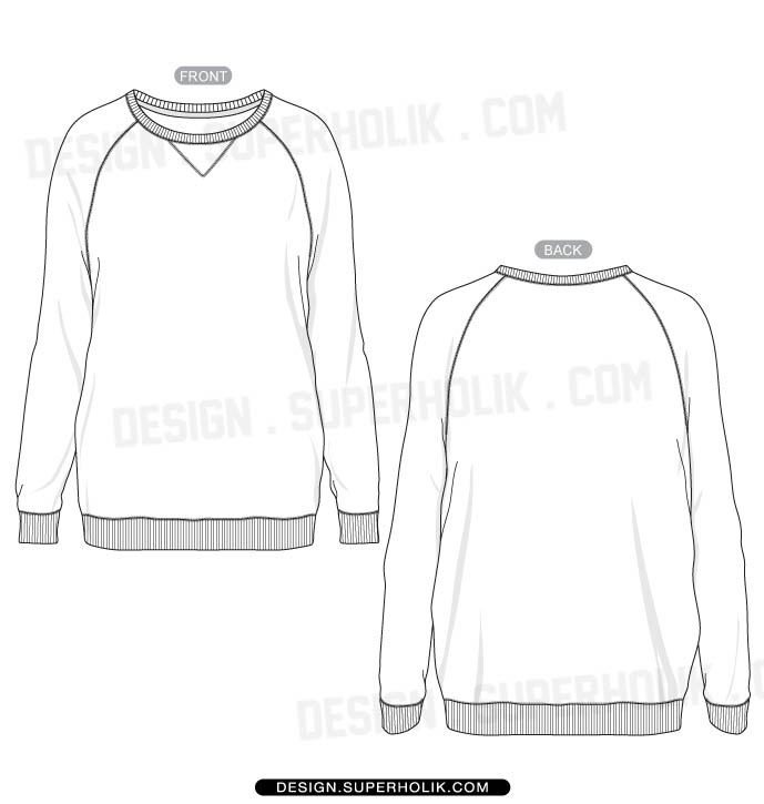 Picture suggestion for Crewneck Sweatshirt Template Vector