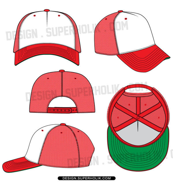 how to draw a trucker hat