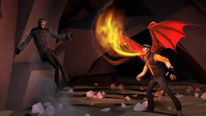 [SFM] Booth vs Drakon by TheLisa120