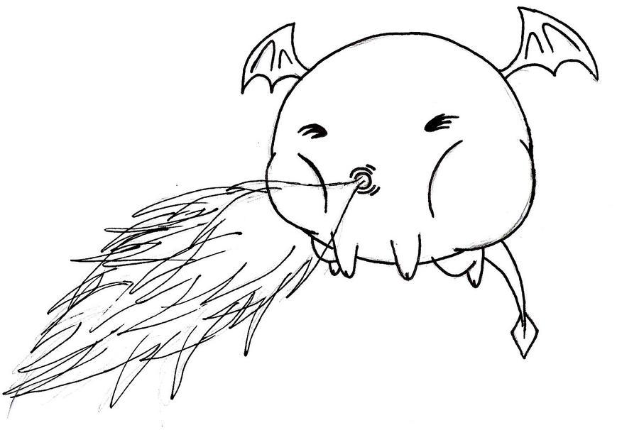 mini dragon no name by eman78954
