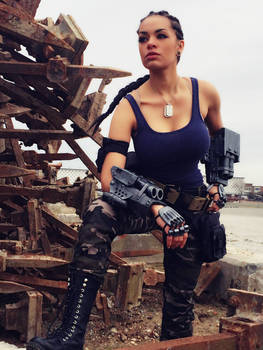 Jacqui Briggs cosplay - Shotgun variation