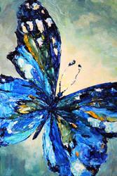 Blue Butterfly by BeeTatyana