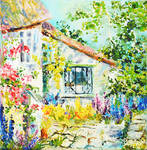 Cozy cottage II Oil painting