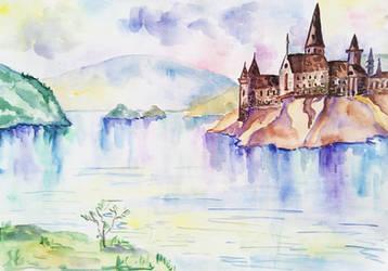 Hogwarts inspired magic castle by BeeTatyana