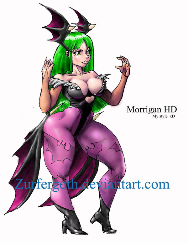 Morrigan stance HD by Zurfergoth