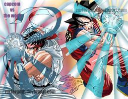 Ryu vs Goku by Zurfergoth
