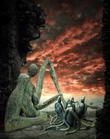 Reading to my children by DinowCookie