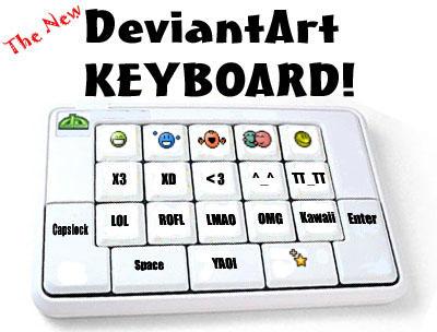 DeviantArt Keyboard by trancetime