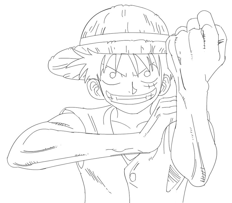 One Piece Lineart : Lineart one piece monkey d luffy by xsamnatax on deviantart
