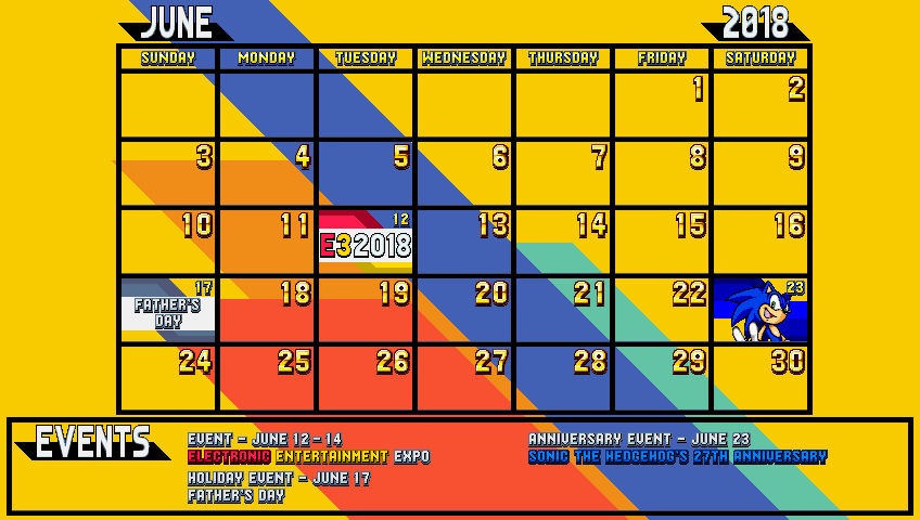Sonic Mania June Calendar By Danielmania123 On Deviantart