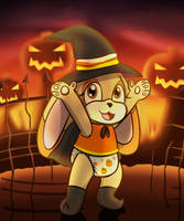 Cream the Baby Witch of Pumpkin Hill -By Kontsune-