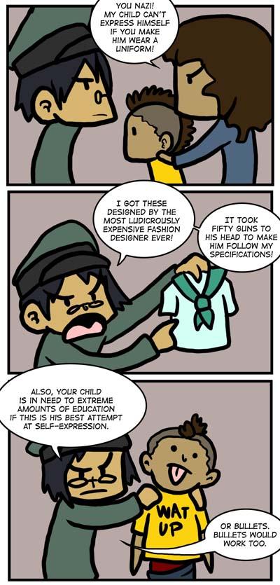 Uniforms vs. Self-Expression by Kaxen6
