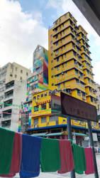 colourful HK street