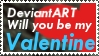 Valentine's Stamp by Cjdjncs