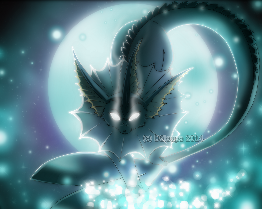Vaporeon ice and moon by Strawberry-Loupa