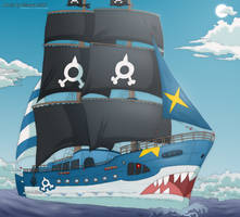 AzurVictoria. Team Aqua Ship by Strawberry-Tate