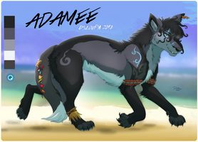 Adamee ref sheet 2017 by Strawberry-Tate