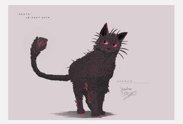 ANKROW . Chat noir by Strawberry-Tate