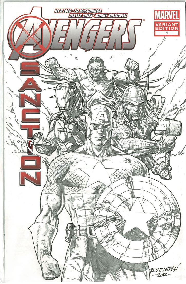 Avengers cover comission by Reybronx