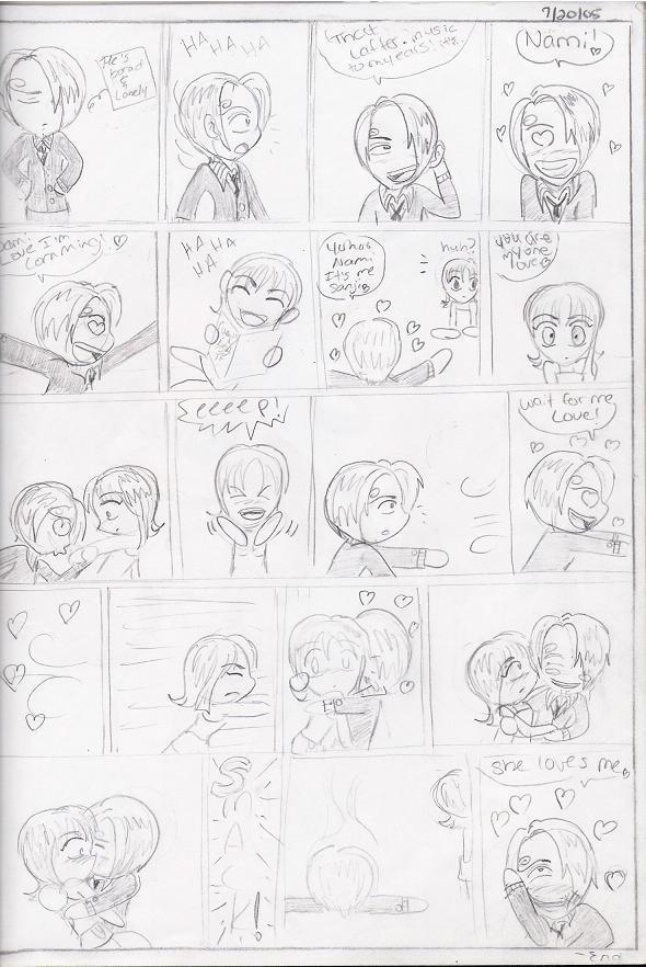nami and sanji chibi comic by sammysmall on deviantart