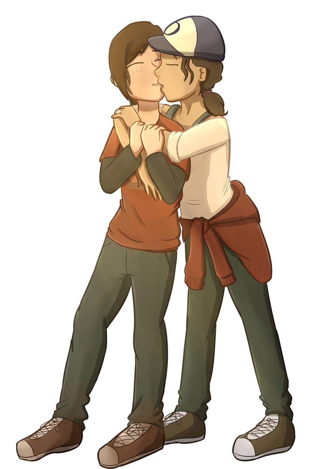 Commission 7 8 Ellie And Clementine By Foxhatart On Deviantart