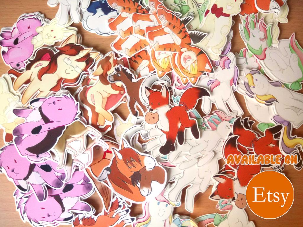 Stickers restock! by Foxhatart