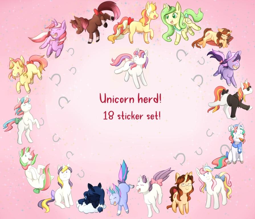 Unicorn Sticker Set! by Foxhatart