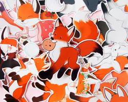 Fox collection: x18 Fox sticker collection!