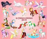 Unicorn Sticker Set 2 by Foxhatart