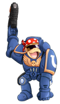 Commission: Donkey Kong Space Marine by Foxhatart