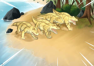 Commissions: Sandgators Attack
