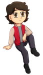 Commission: Peter Dechart by Foxhatart