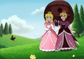 Commission: Princess Peach and Shadow Queen Peach