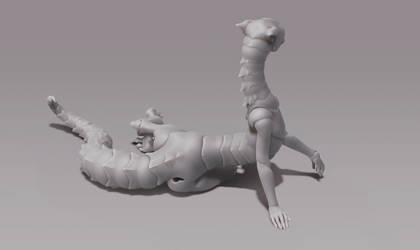She is a dragon bjd by CrowBlackJay