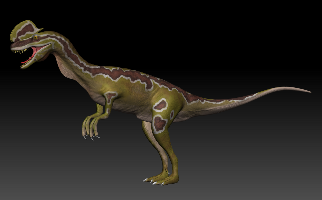 Dilophosaurus Jurassic Park 3D Model by Nikelegal on ...