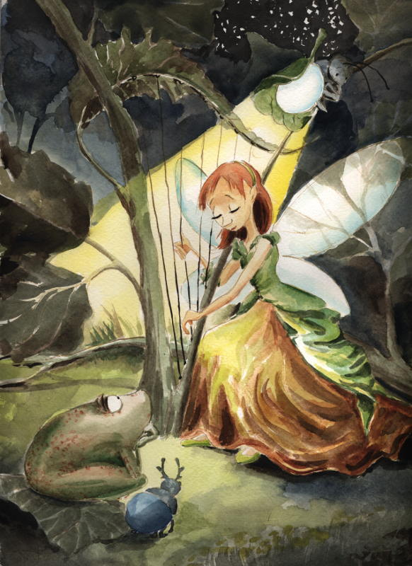 Elf Harpist by asiapasek